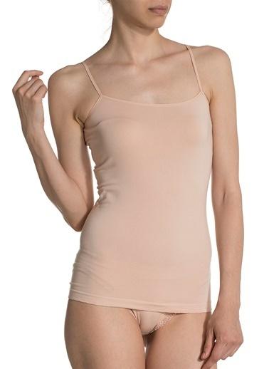 Doremi Seamless Modal İnce Askılı Tshirt Ten